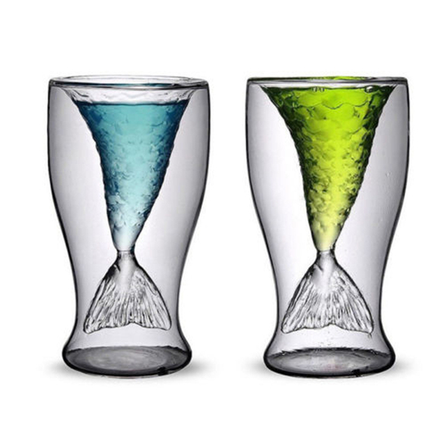 Cute Mermaid Tail Shaped Cocktail Glass