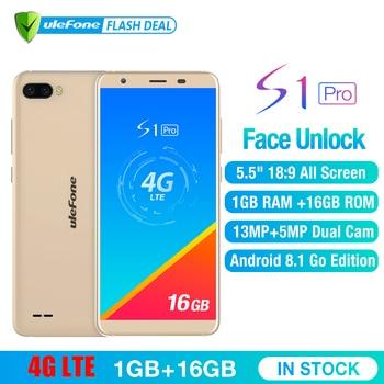 Ulefone S1 Pro Ponsel Android 8.1 5.5 Inch 18:9 MTK6739 Quad Core Face ID 16 GB ROM 13MP + 5MP Belakang Dual Kamera Smartphone 4G