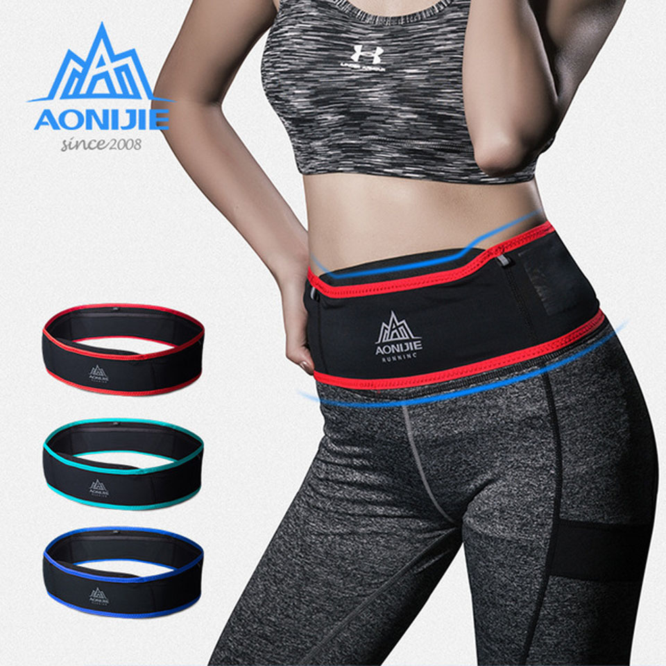 AONIJIE Waist Bags Running Slim Women Pack Pouch Belt Men Purse Mobile Phone Pocket Case Camping Hiking  6.9 In Mobile Phone