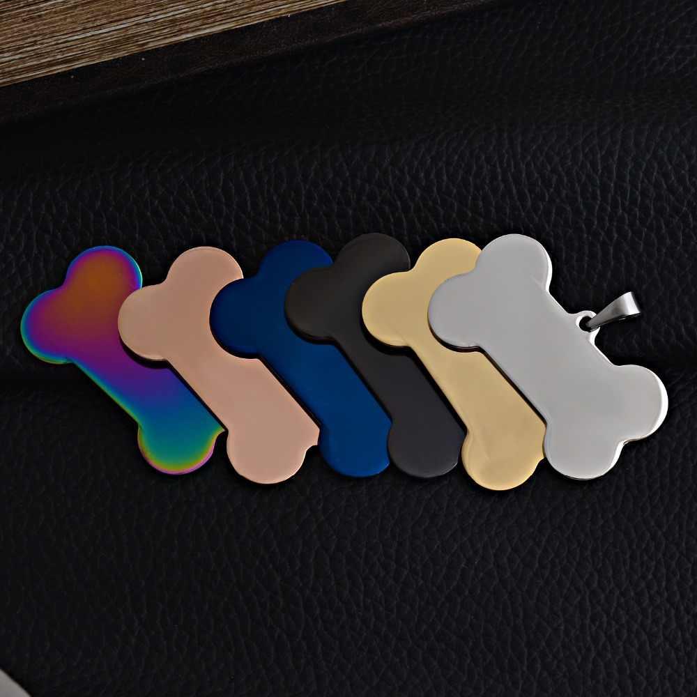 6 colori Forma di Osso In Acciaio Inox ID Dog Tag Collana Esercito Militare 316L ID Del Pendente Dei Monili del Commercio All'ingrosso di Dropship