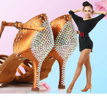 Sneakers Standard Dance Shoes Women Brand Party Ballroom Latin Shoe High Quality Dancing With Diamond Brown Discount BD 217z Hot