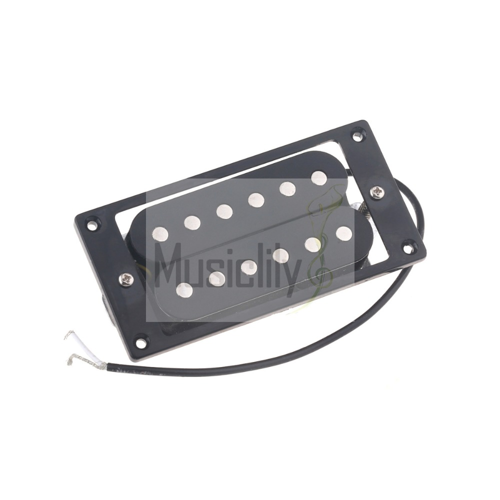 52mm Bridge & 50mm Neck Black Frame Humbucker Double Coil Pickup Set For Guitar Parts electric guitar pickup humbucker for 6 string 6 pieces double coil pickups set neck bridge pickup humbucker double coil