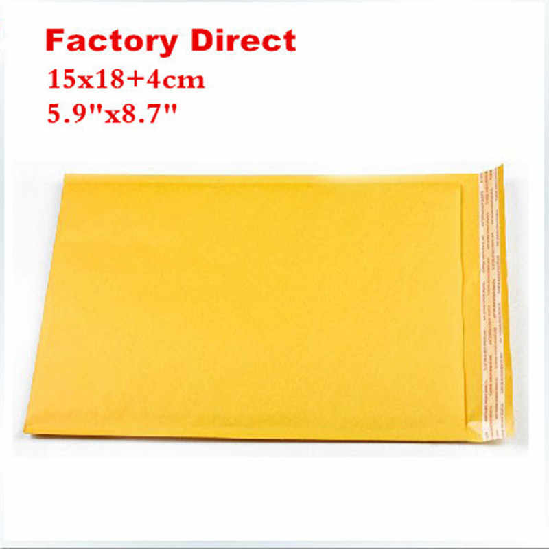 "15cmX18cm+4cm 5.9""X8.7"" 50 pieces courier bags 150x180mm kraft Bubble Mailers Padded Envelopes air Bags 15cmx22cm"