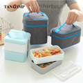 TANGIMP Portable Insulated Oxford Lunch Bags Thermal Food Picnic Lunchbox for Women kids Men Cooler Ice Mummy Bag W/ Lunch Box