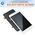 Display de alta Qualidade Para Samsung Nota N7000 Lcd Screen Display Toque Digitador Assembléia Com Frame Exibição Nota Galáxia