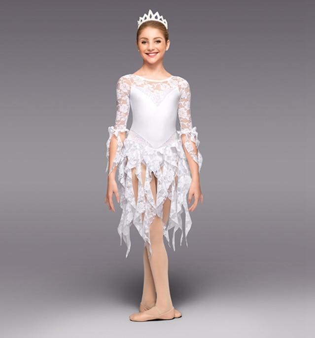 nya barnbalett modern dans snörklänning kostym ny för 100 cm-140 cm