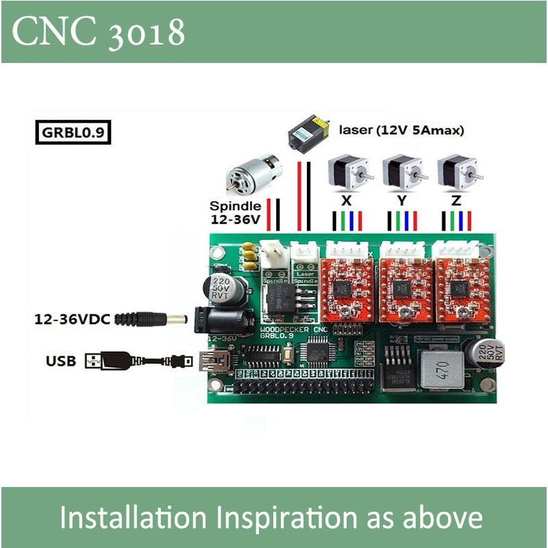 CNC 3018 graveris su ER11 griebtuvu su 500mw 2500mw 5500ww galingumo - Medienos apdirbimo įranga - Nuotrauka 4