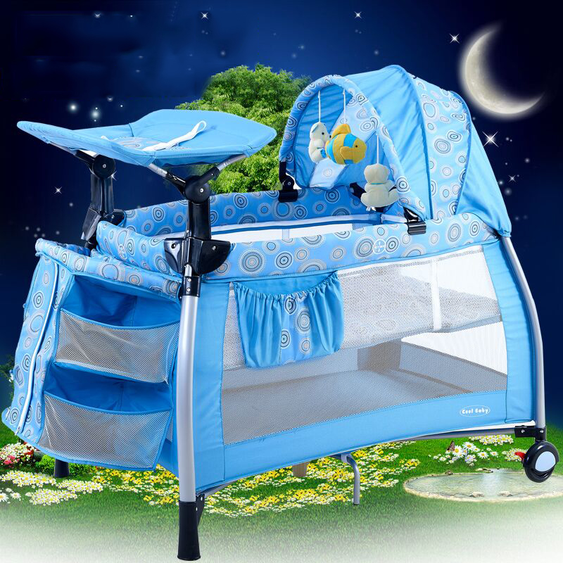 Coolbaby Multifunctional Baby Bed Portable Game Bed Fashion Crib Folding Baby Bed Bb Cradle Bed Baby Bedding Set Other valdera portable folding baby crib multifunctional bed bb bed newborn game nets