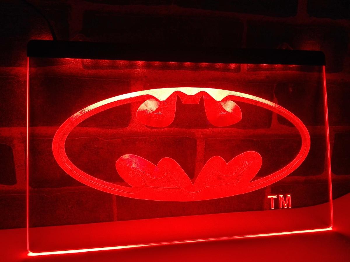 Man Cave Neon Light Signs : Lc batman hero man cave led neon light sign home decor
