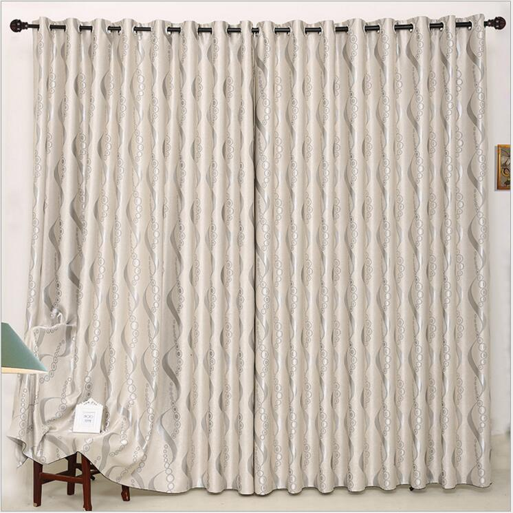 2017 new beautiful blackout curtains for living room striped grey color thickness window panels - Beautiful curtains for living room ...