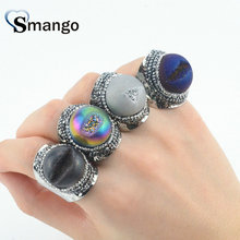 5Pieces,Women Fashion Jewelry,The Black Hole SeriesColorful Rhinestone Rings,4 Colors