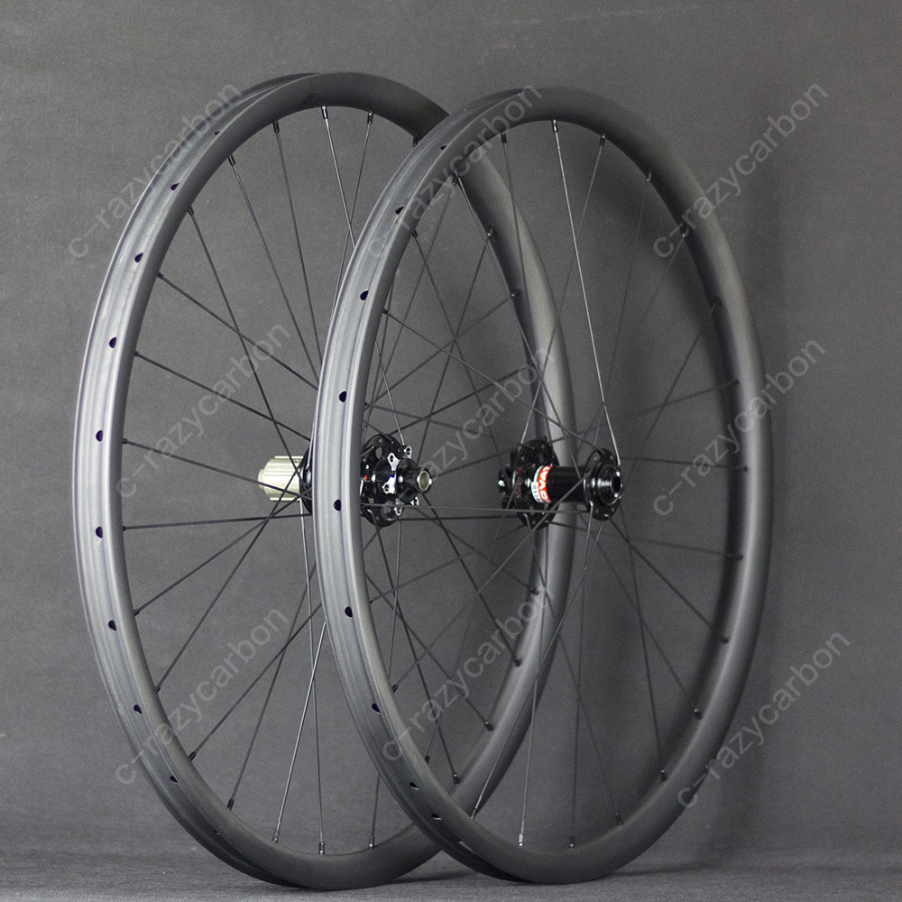 2018 Discount Custom Wheel Asymmetry MTB Carbon XC 29er Inch Wheels Mountain Bike Clincher Tubeless high quality carbon ruote mtb 29er rims 35x25mm hookless clincher tubeless kit mtb for cerchi carbonio xc 29 inch mountain bike