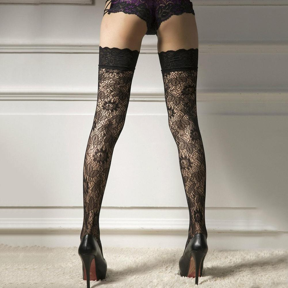 Wholesale 1 Pair Women Floral Lace Over Knee Thigh High Stockings Sexy Honeymoon Stretchy Durable Super Elastic Stockings