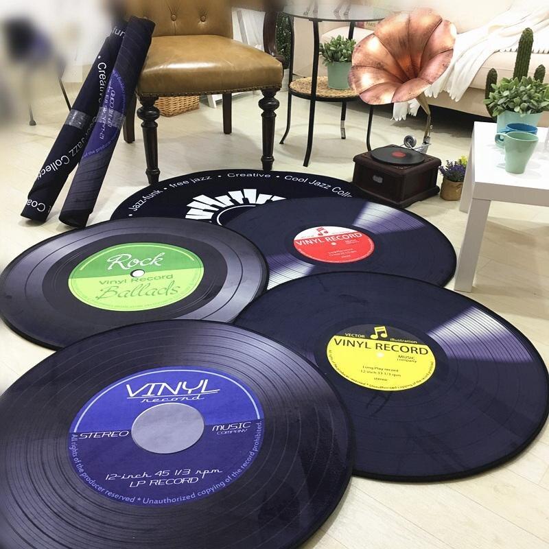 Rétro dossier 3D 6mm Thinckness Tapis Dossier Étude hall Ronde Tapis salon table basse chambre chaise d'ordinateur chambre tapis