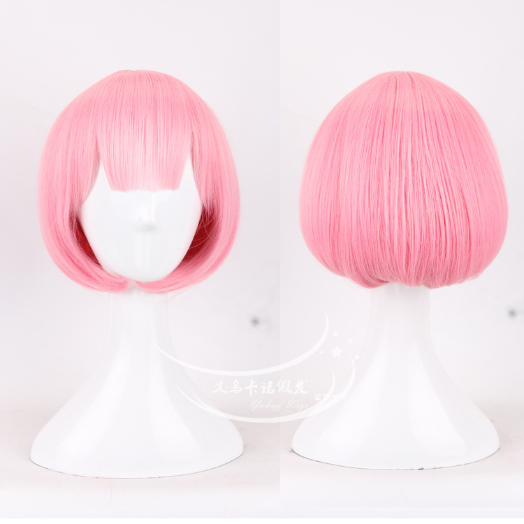 A Different World From Scratch Hair Accessories Pink/blue Ombre Synthetic Hair Jewelry Extension For Rem Ram Cosplay Wigs