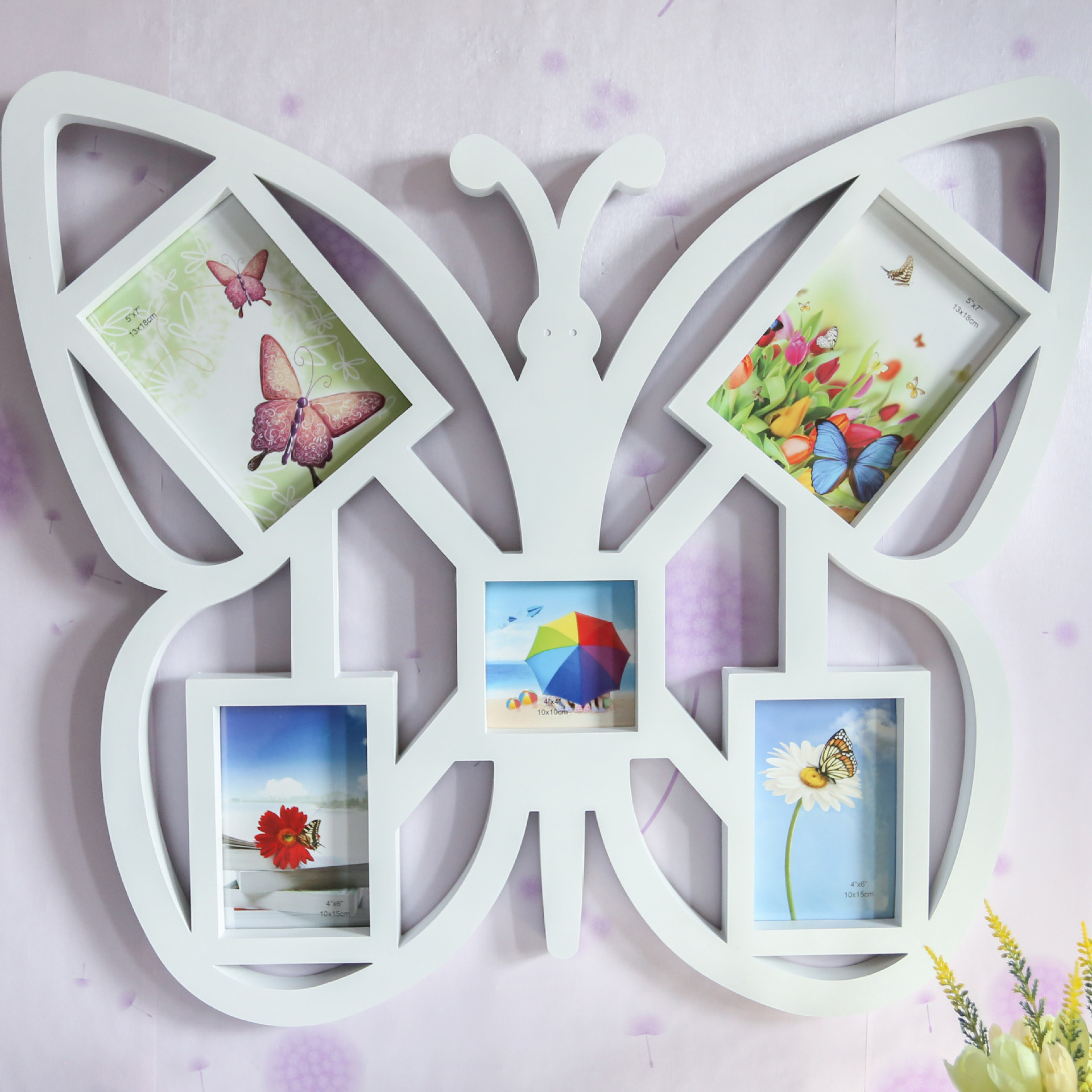 Hot Selling Newest Big Butterfly Creative Photo Frame Wall Hanging Body Combination Photo Frame, Personalized Art Photo Frame-in Frame from Home & Garden    1
