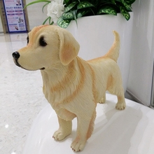 resin creative Golden Retriever dog statue cute Simulation home decor crafts room decoration animal figurines gifts