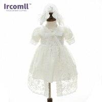 Baby Girls Princess Wedding Party Lace Dress Christening Gown Dresses Hat Shawl Vestidos Infantis For Newborn