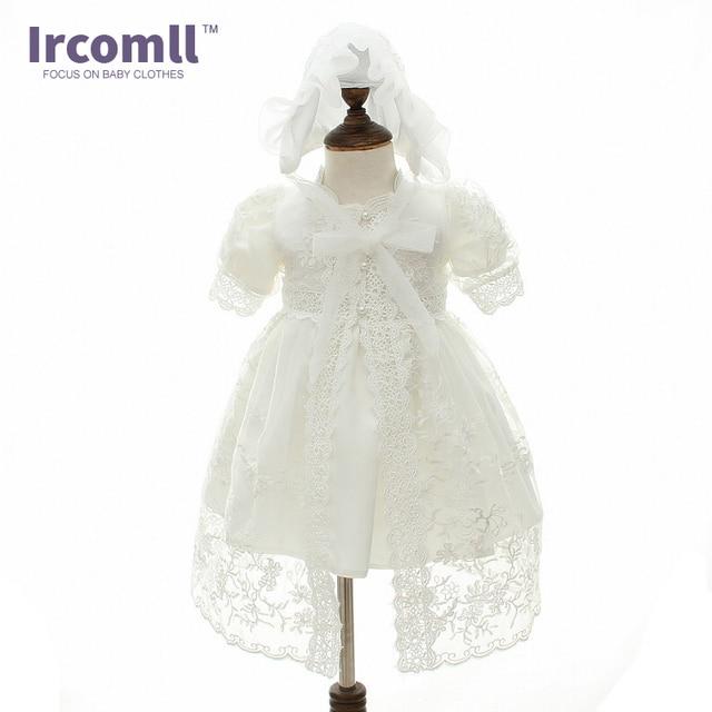Baby Mädchen Prinzessin Hochzeit Lace Kleid Taufkleid Kleider + Hut ...