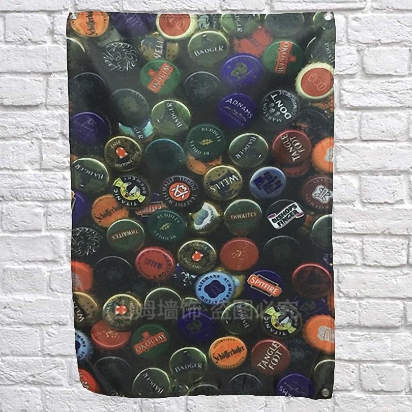 Bereidwillig Bier Cover Wijn Poster Scrolls Bar Cafes Indoor Home Decoratie Banners Opknoping Art Waterdicht Doek Muurschildering