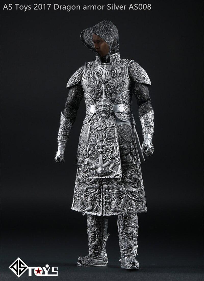 1/6 échelle ancien général chevalier armure cuirassé ensemble modèle argent noir pour 12