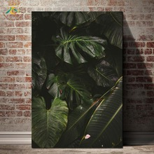 Monstera Leaves Nordic Poster Nature Modern Wall Art Canvas Prints Painting Home Decoration Pictures for Living Room