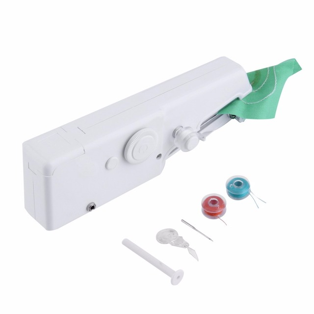 Mini Portable Handheld Sewing Machines Needlework Household Foot Delectable Handy Stitch Hand Sewing Machine
