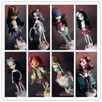 10 unids/lote, ropa de moda para muñecas originales Monster High. Ropa Original para muñeca, vestido para muñeca alta de monstruo