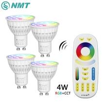 Mi Light Dimmable Led Bulb 4W MR16 GU10 RGB CCT(2700-6500K) led Lamps Indoor Decoration + 2.4G RF LED Remote Control