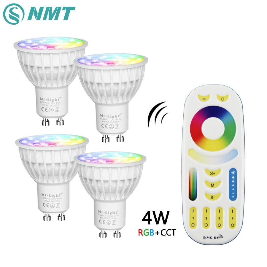 Mi Luce Dimmable Ha Condotto La Lampadina 4 w MR16 GU10 RGB CCT (2700-6500 k) lampade A led Decorazione Dell'interno + 2.4g RF LED di Controllo Remoto