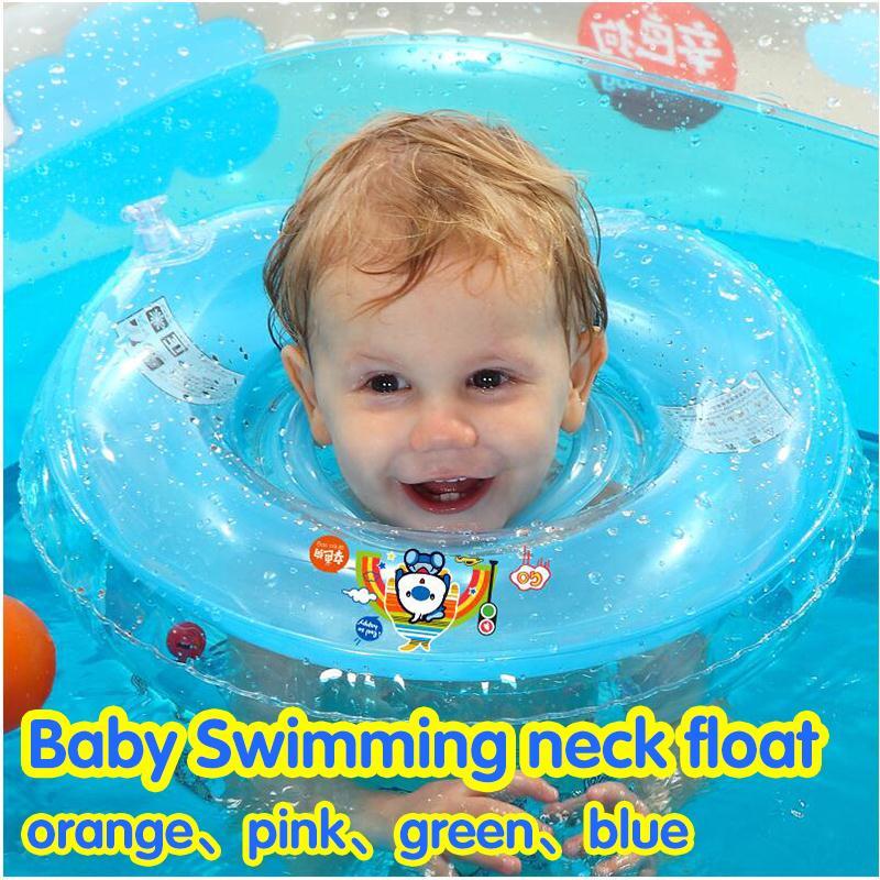 Swim Ring Baby Neck Float Ring Infant Bathing Inflatable Swim Ring ...