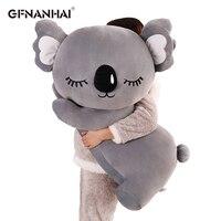 1pc 60/75CM Large Size Stuffed Animal Koala Plush Toys Lovely Lying Lazy Koala Sofa Cushion Pillow Dolls Children's Day Gifts