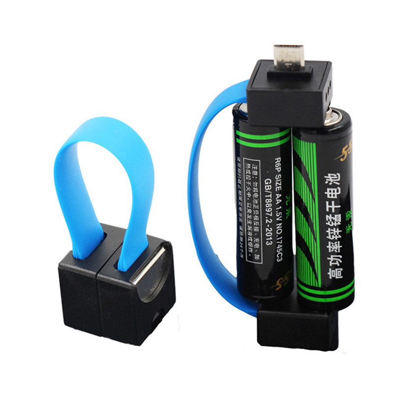 Mini Portable Magnetic AA/AAA Battery Powered Micro USB