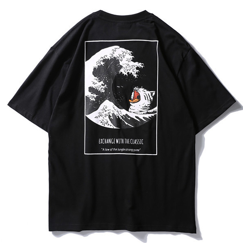 Aolamegs T Shirt Men Japanese Retro Men 39 s Tee Shirts O neck T Shirt Cotton Simple Fashion High Street Couple Tees Streetwear in T Shirts from Men 39 s Clothing
