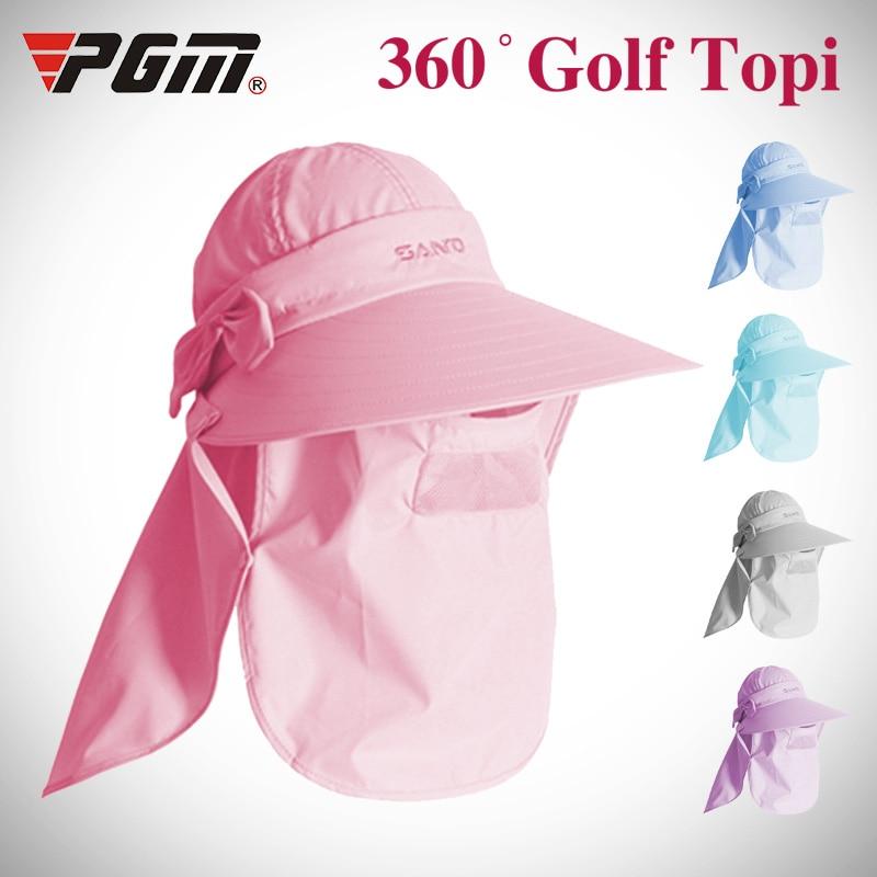 PGM 2018 Sun protection Women Outdoor Mask Cap Training Ladies Golf  Baseball Sport Brands Sun Protect Hat Visor UV Visor Mask-in Golf Caps from  Sports ... 48b5fd1364ac