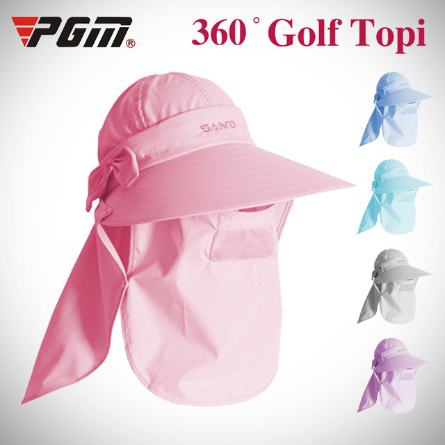 PGM 2018 Sun protection Women Outdoor Mask Cap Training Ladies Golf  Baseball Sport Brands Sun Protect Hat Visor UV Visor Mask 0c1c7319e65