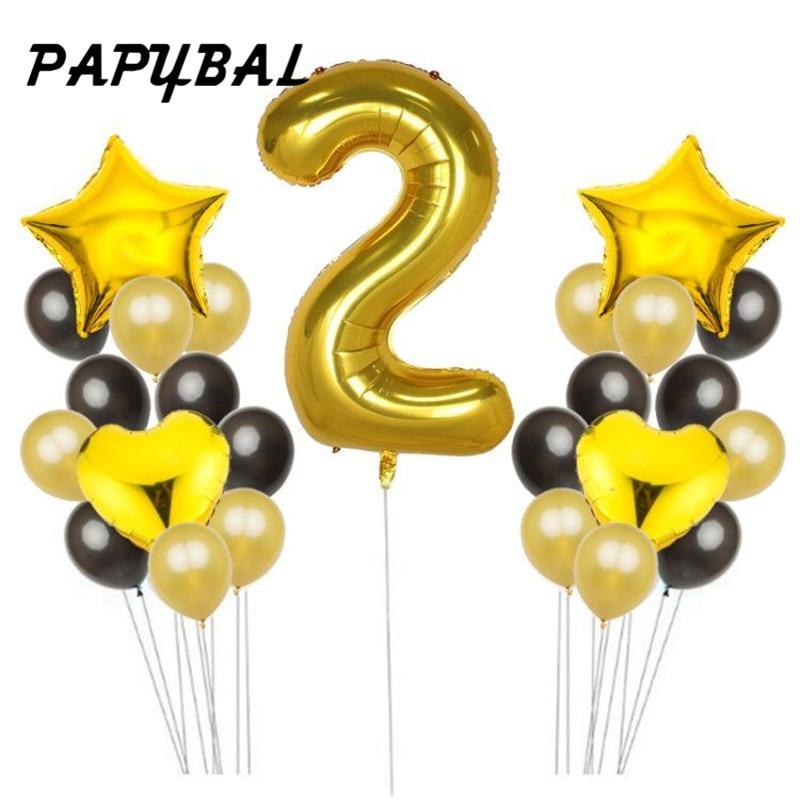 1 2 3 4 5 6 7 8 9 Year Old Birthday Balloons Girl Boys Baby