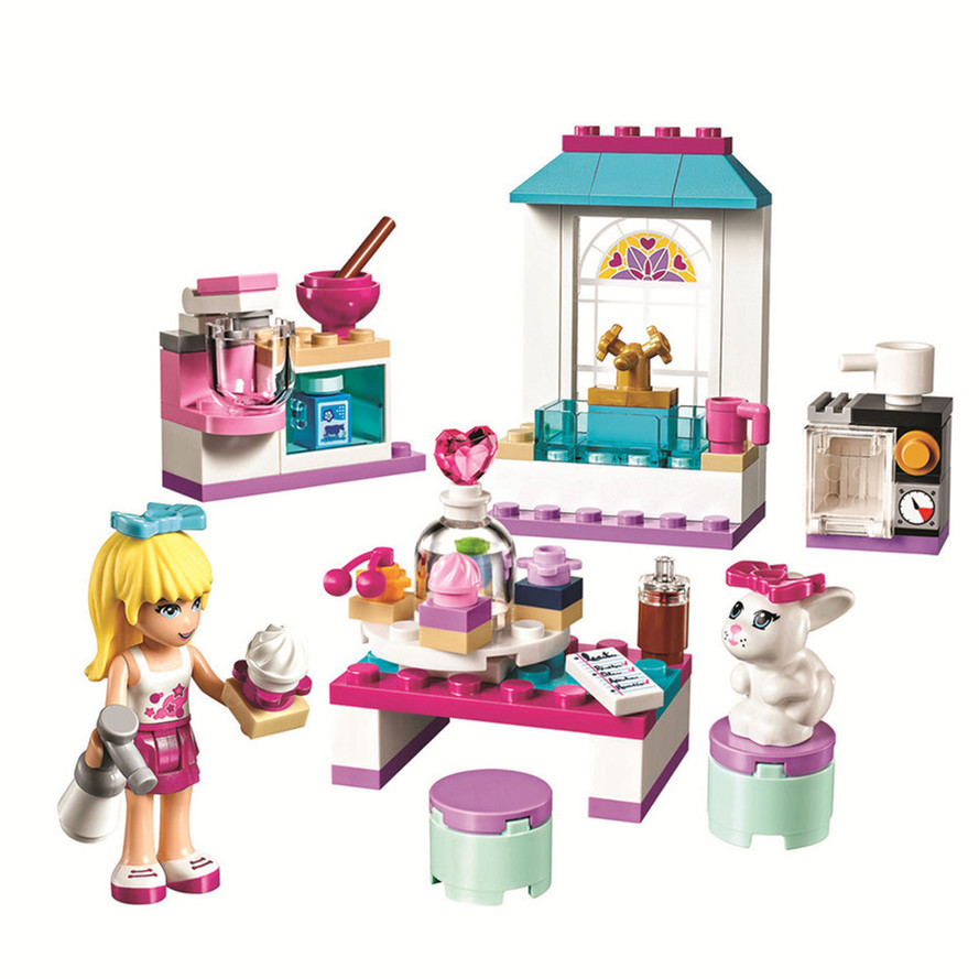 BELA Friends Series Stephanie s Friendship Cakes Building Blocks Classic For Girl Kids Model font b