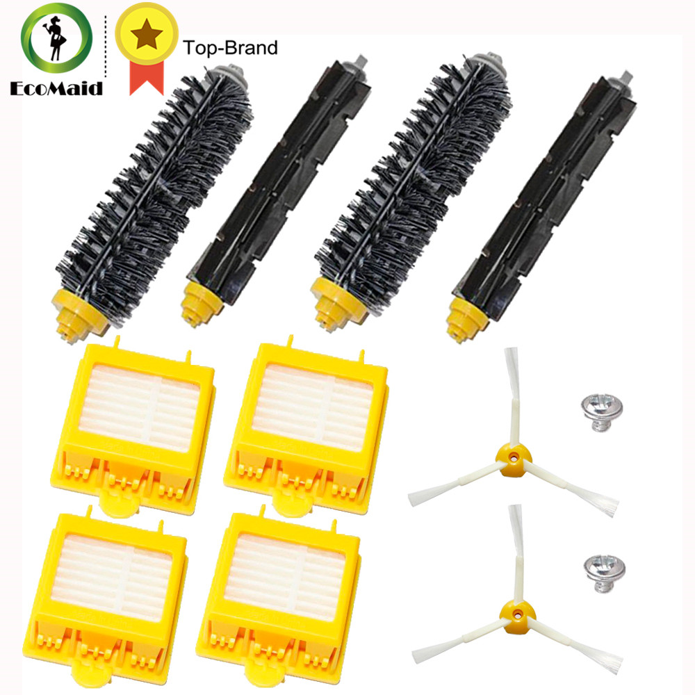 Replacement Beater Bristle Brush Hepa Filter 3-Armed Side Brush Screws For iRobot Roomba 700 Series Vacuum Cleaning Robots 6 pieces 3pcs brush 3pcs screw replacement 3 armed side brush with screw for irobot roomba 500 600 700 vacuum cleaners parts