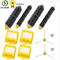 Replacement Beater Bristle Brush Hepa Filter 3 Armed Side Brush Screws For IRobot Roomba 700 Series