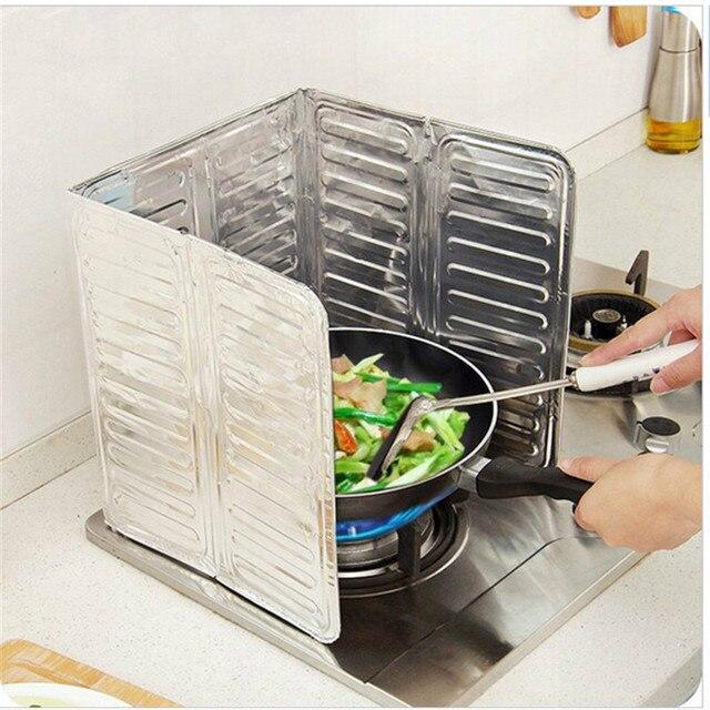 Kreative Küche Faltbare Gasherd Windschutz Schallwand Öl ...