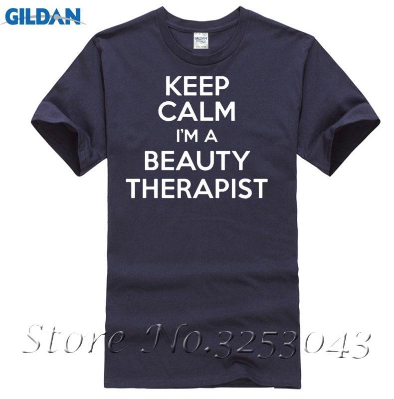 Keep Calm IM косметолог забавные Футболки для женщин Для мужчин брендовая одежда Повседневное модные короткий рукав
