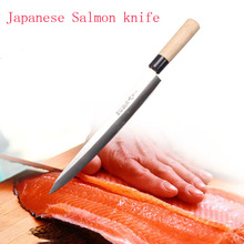 Stainless Steel Floating Fishing Knife Kitchen Salmon Sashimi Fruit Knives Barbecue Tools Outdoor Camping Fish Knife With Cover