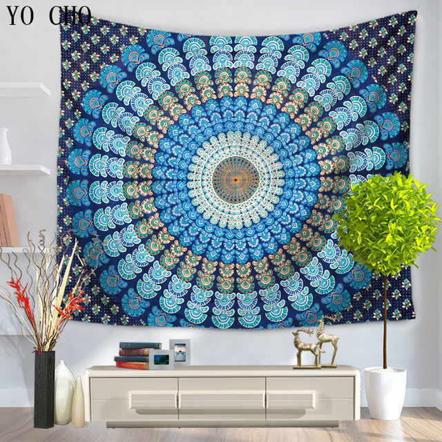 yo cho mandala tapestry hippie interieur muur opknoping bohemian decor boho strand gooi handdoek yoga mat