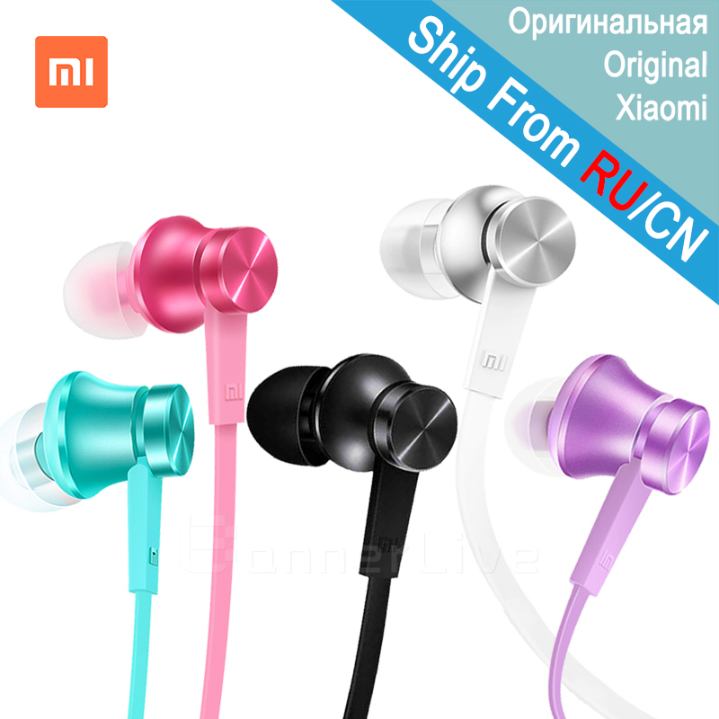 Original Xiaomi Earphone Piston Basic In-Ear Stereo with Mic Earbud Mi Earphone Headset for iPhone iPad Samsung Xiaomi Redmi HTC