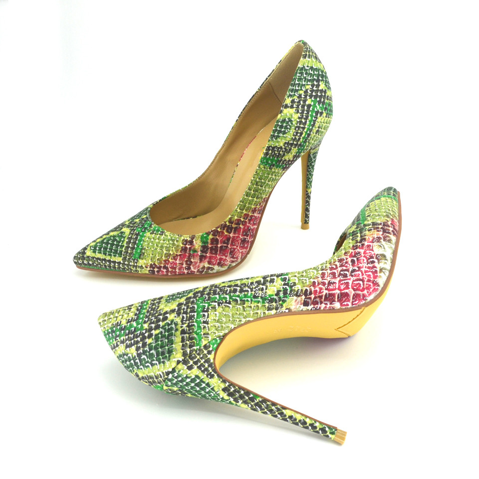 Vert Partie Chaussures Snake Knsvvli Serpent Robe Pompes Bout green Grey Mode Motif Femmes Talons Pointu Haute Sexy Extrême Femme qUOOwzrt