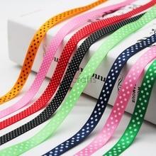 3/8 9 MM Dots Printed Satin Ribbon Swiss Dot And Polka dot Spool Dotted Swiss Wedding Decoration DIY Tape Gift  Red Black White polka dot masking tape 4pcd
