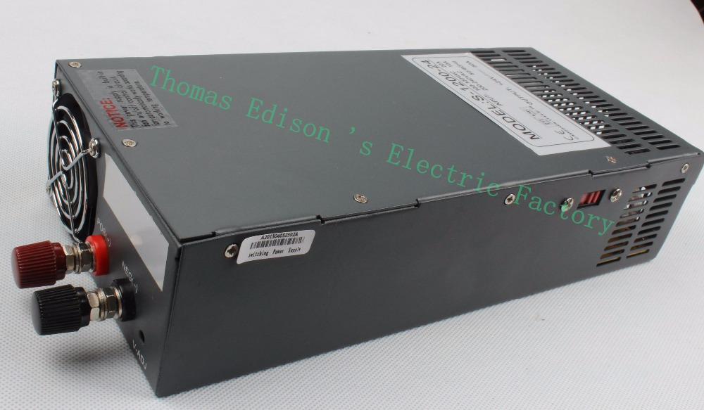 ФОТО S-1200-24 1200W 24V 50A Switching power  supply for LED Strip light AC to DC  suply input 110v 220v 1200w ac to dc