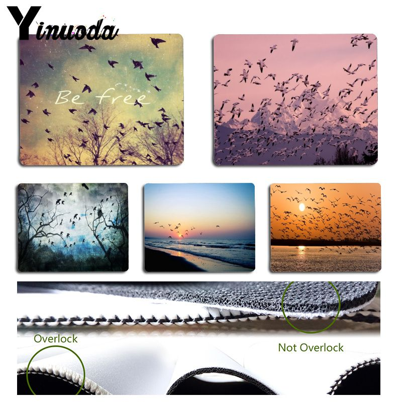 Yinuoda Cool New Be Free Birds Pad to Mousepad Game Size for 18x22cm 25x29cm Rubber Mousemats