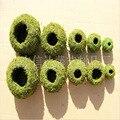 Free Shipping Fleshy Flowerpot Dyeing Moss  Home Furnishing Micro Landscape Gardening Moss Ball Pot DIY Material Home Decoratio